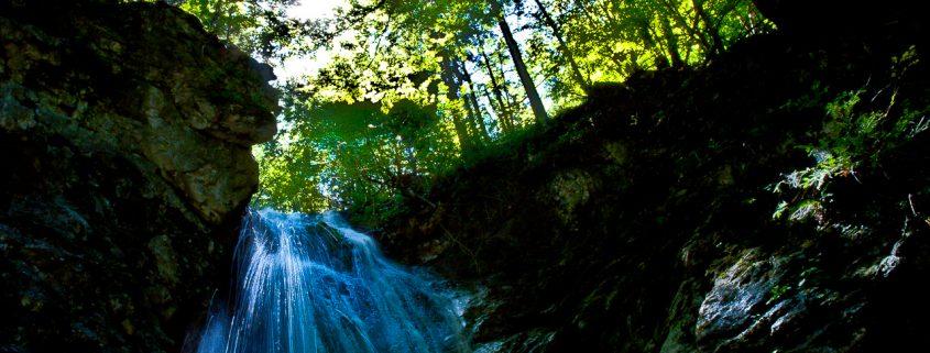 Die Wolfsschlucht-Wasserfälle im Inntal
