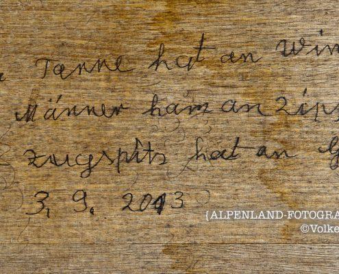 Salinenweg Ramsau - unbekannter Dichter