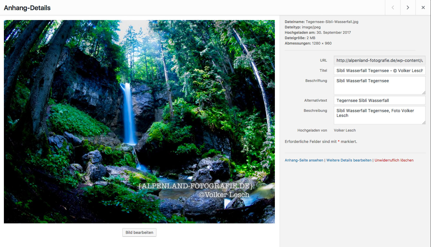 Suchmaschinenoptimierung Wordpress Mediathek