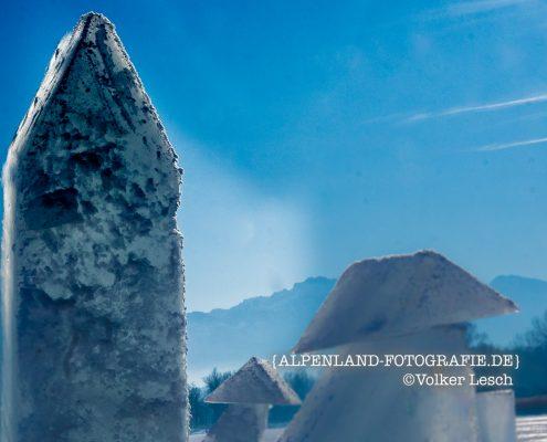 Chiemsee Winter Eisskulptur