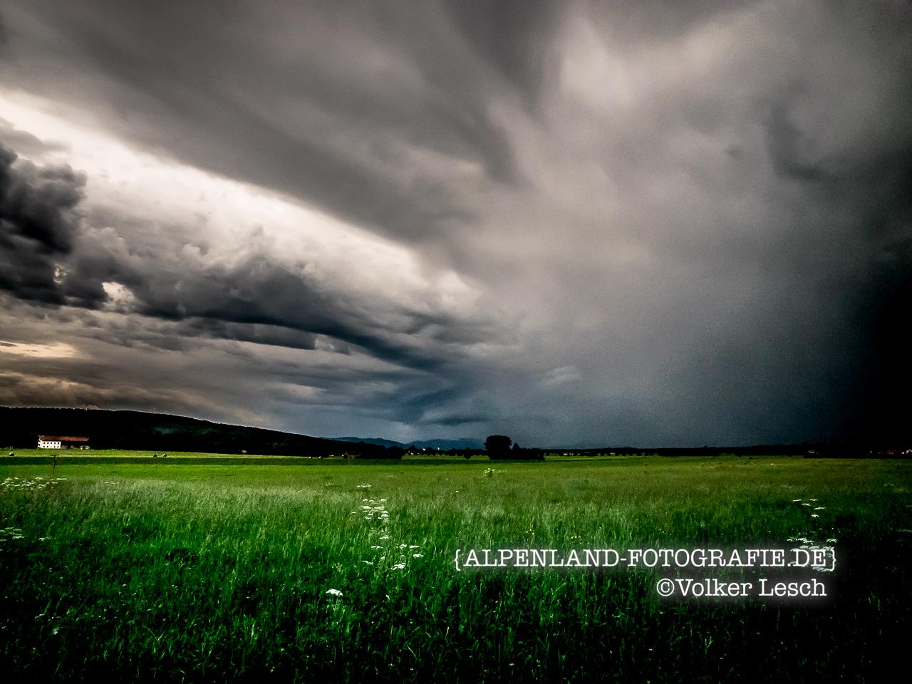 Gewitter im Bayerischen Oberland