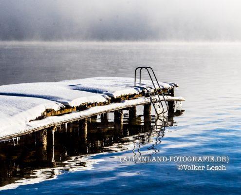 Winter am Tegernsee Badesteg