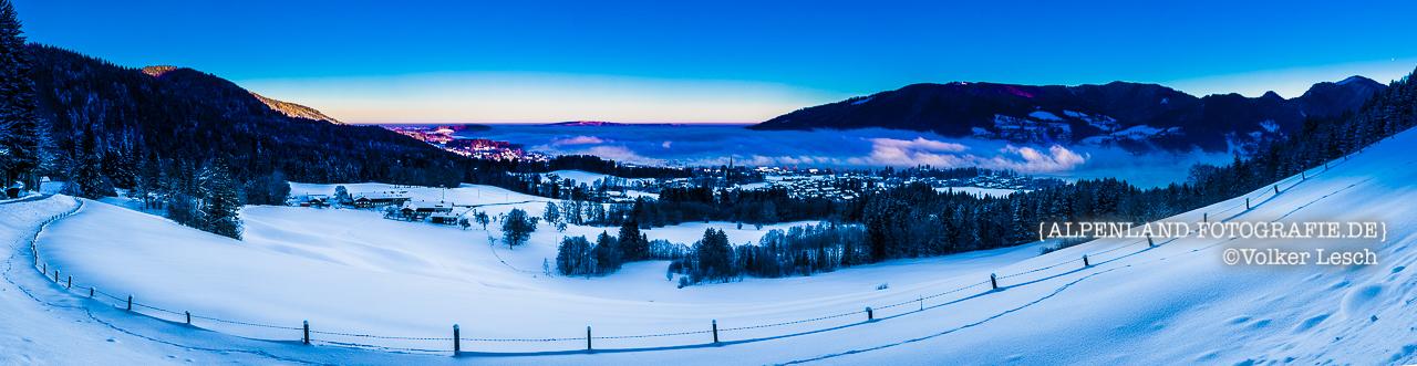 Tegernsee Winter Panorama