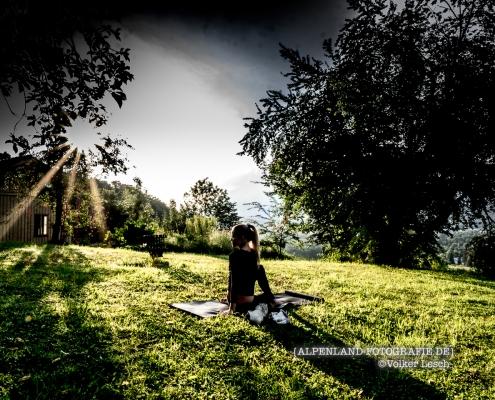 Alpengärten Yoga © Volker Lesch - Alpenland Fotografie