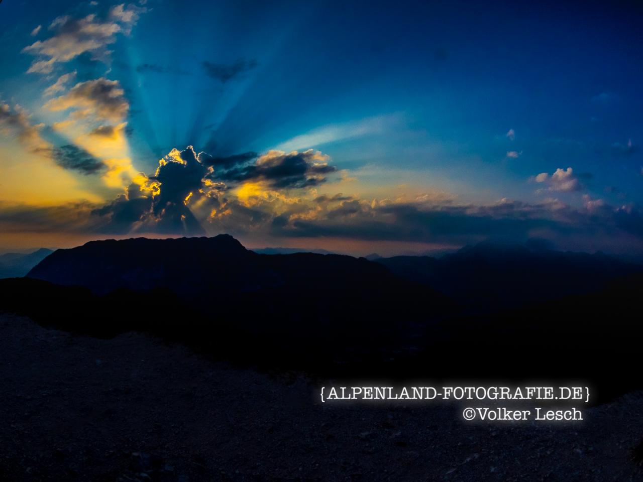 Sonnenaufgang über dem Untersberg