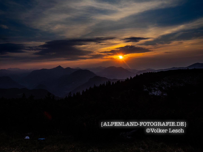 Sonnenuntergang Karkopf Berchtesgadener Alpen