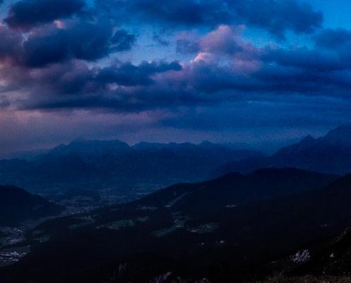 Untersberg Sonnenaufgang vom Karkopf