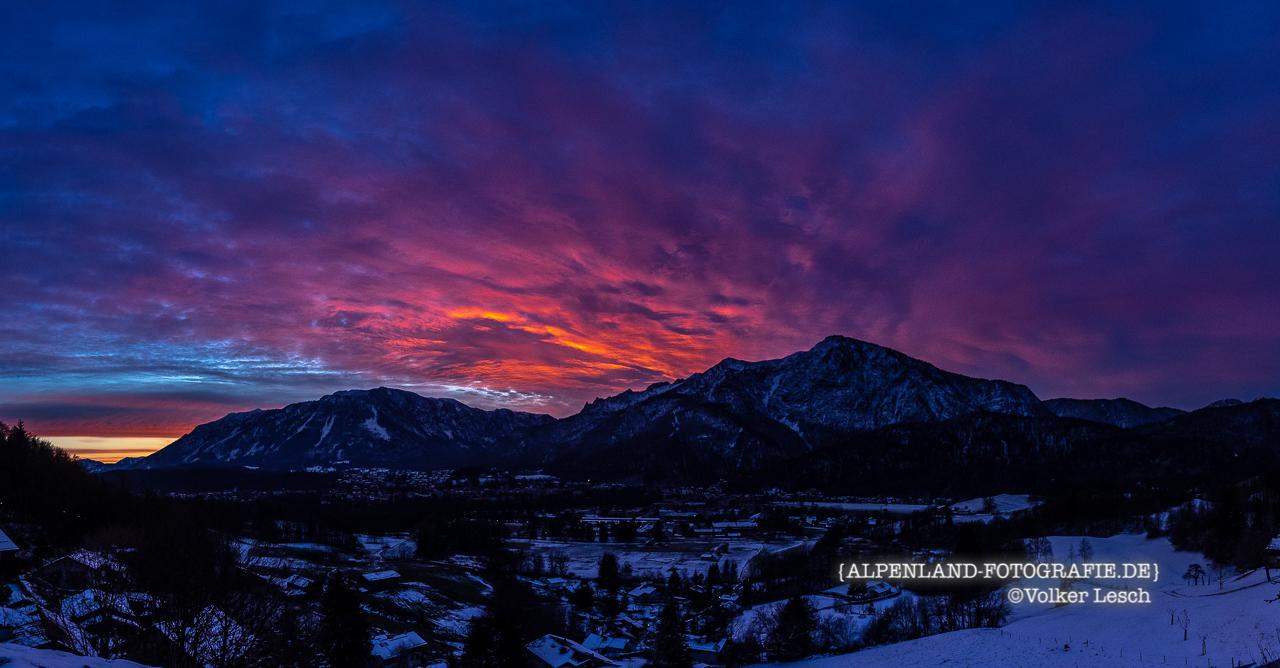 Sonnenaufgang über Untersberg und Predigtstuhl