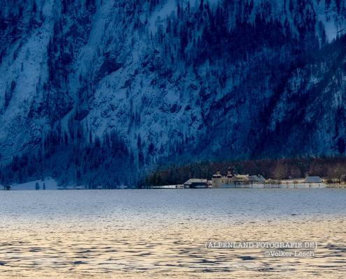 St. Bartholomä - Königssee im Winter © Volker Lesch - Alpenland Fotografie