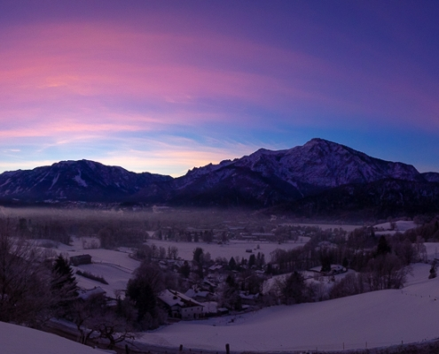 Untersberg und Predigtstuhl 7. Februar - Bad Reichenhall Daily © Volker Lesch - Alpenland Fotografie