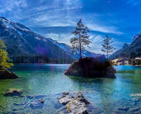 Hintersee mit Hochkalter © Volker Lesch - Alpenland Fotografie