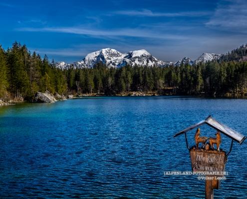 Hoher Göll am Hintersee bei Ramsau © Volker Lesch - Alpenland Fotografie