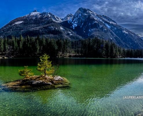 Hochkalter am Hintersee bei Ramsau © Volker Lesch - Alpenland Fotografie