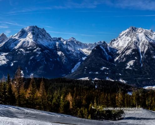 Watzmann und Hochkalter vom Hochschwarzeck © Volker Lesch - Alpenland Fotografie
