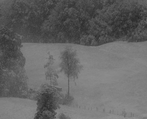 Bad Reichenhall - Schnee im Frühling in Nonn