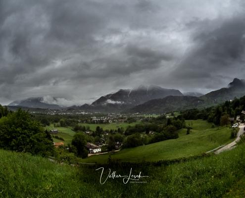 Regenwolken Untersberg und Predigtstuhl Bad Reichenhall