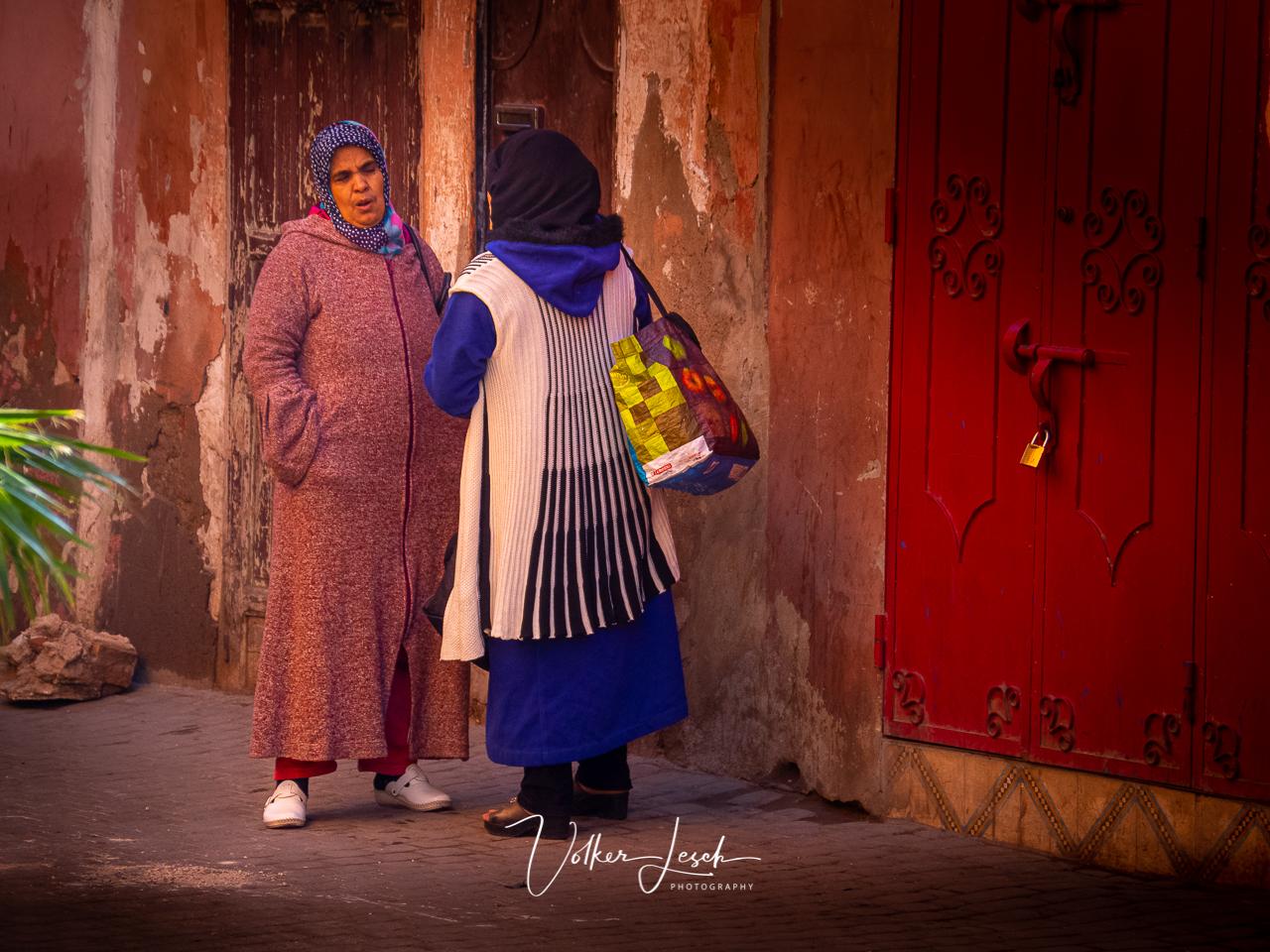 Marokko - Platz an der Moschee Ben Salah Marrakesch