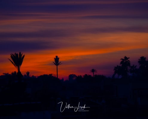 Marokko - Sonnenuntergang in Marrakesch