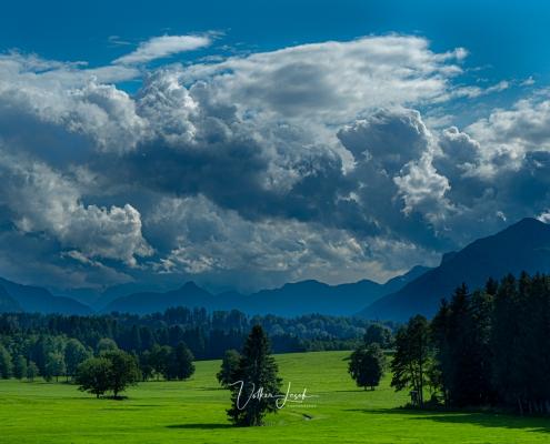 Wolken über dem Tal der Tiroler Ache