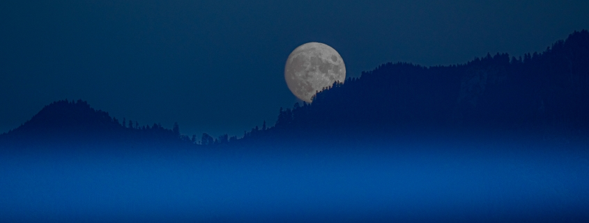Hochgern im Chiemgau - Mondaufgang